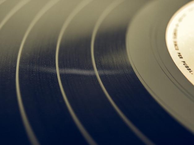 Disque vinyle au look vintage