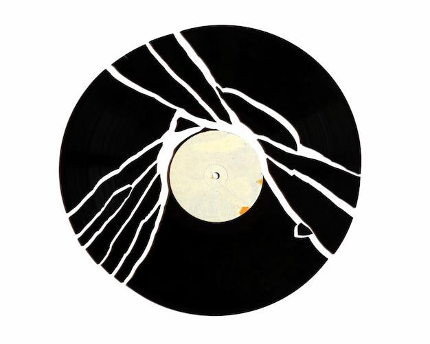Disque vinyle cassé