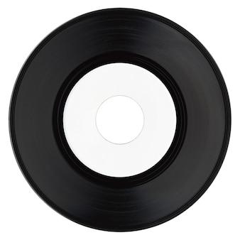 Disque vinyle avec étiquette blanche