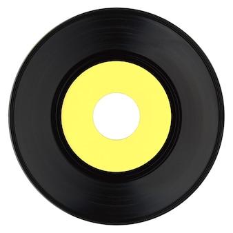 Disque vinyle avec étiquette jaune