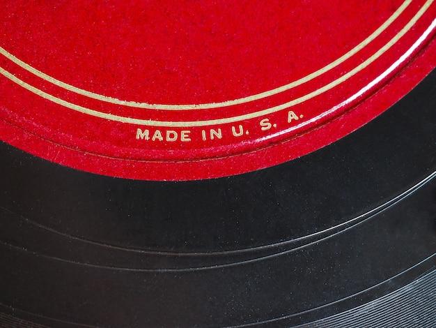 Disque vinyle fabriqué aux états-unis