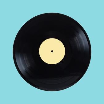 Disque vinyle noir rétro longue durée isolé