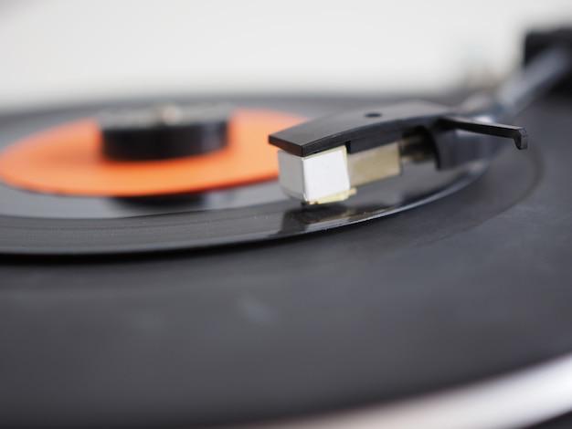 Disque Vinyle Sur Platine Photo Premium