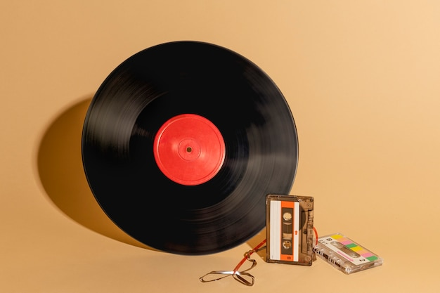 Disque Vinyle Et Ressource De Conception De Cassettes Photo gratuit