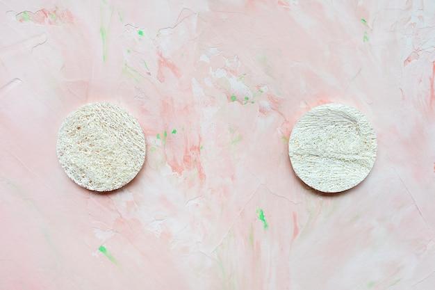 Disques de luffa ronds éponges naturelles pour le visage
