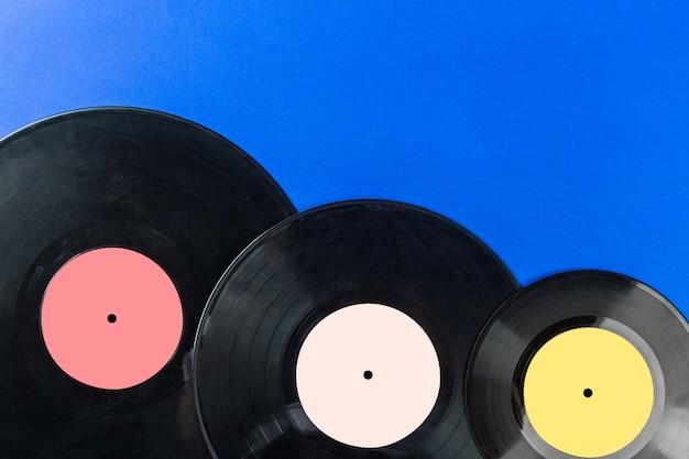Disques vinyle rétro