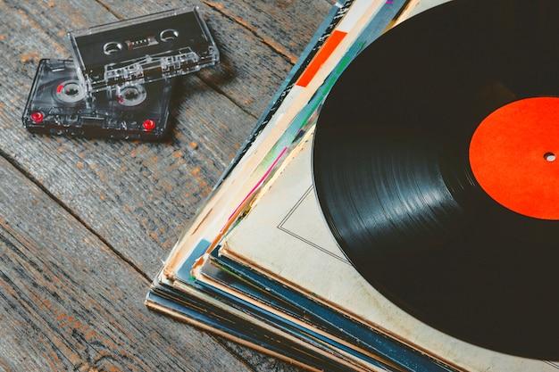 Disques Vinyles Et Cassettes Photo Premium
