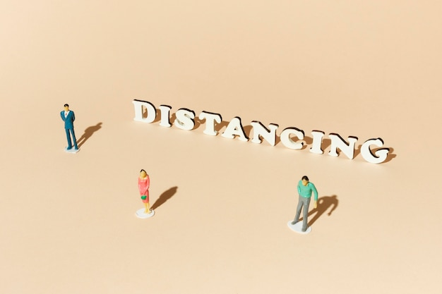 Distance sociale concept covid