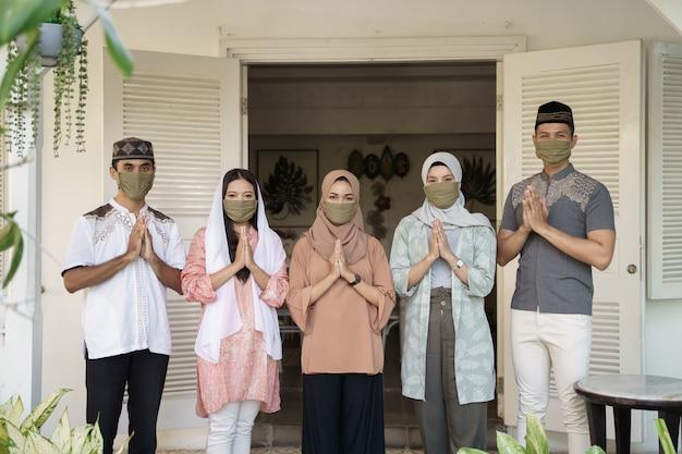 Distance sociale musulmane eid mubarak