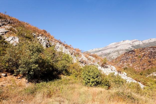 Le district de montagne - les montagnes qui sont sur le territoire de. été de l'année