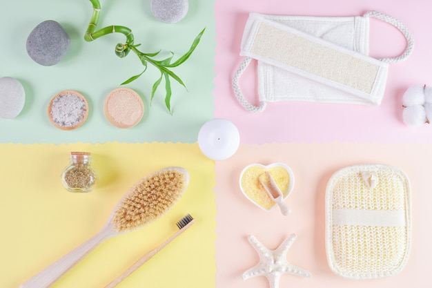 Divers accessoires pour la salle de bain et le spa