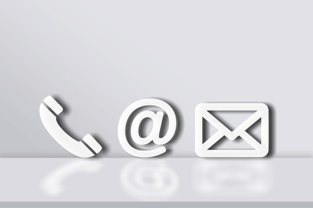 Divers icône blanche pour le message de contact