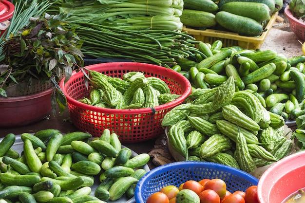 Divers légumes sur le marché