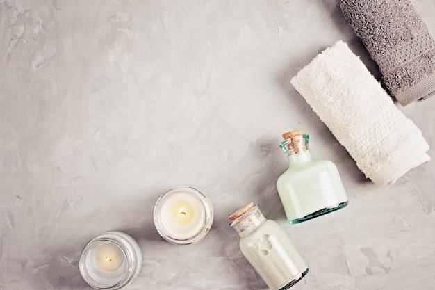 Divers objets liés au spa comme concept de soins de beauté