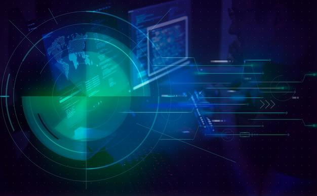 Divers tournage de piratage informatique