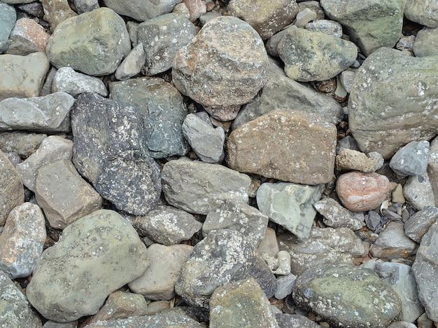 Diverses formes de fond de pierres de granit. texturé de pierre naturelle ou de roche.