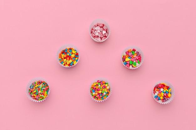 Diverses pépites de sucre