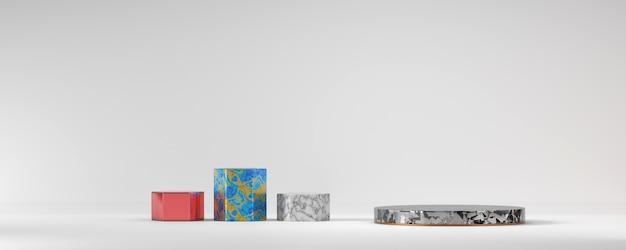 Diverses plates-formes de podium en marbre pour le rendu 3d du produit