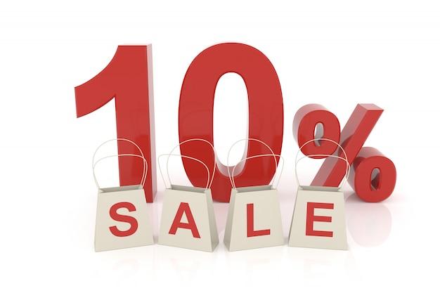 Dix pour cent de vente