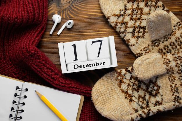 Dix-septième jour du calendrier du mois d'hiver de décembre.