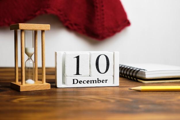 Dixième jour du calendrier du mois d'hiver décembre.