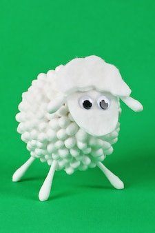 Diy eid al adha tampons de coton mouton agneau, cotons-tiges, tampons-tiges idée cadeau, décor eid al adha