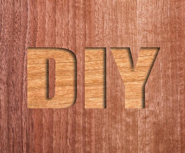 Diy texte sculpté sur bois