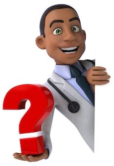 Docteur amusant - personnage 3d
