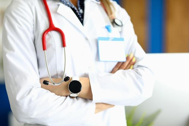 Docteur, à, stéthoscope