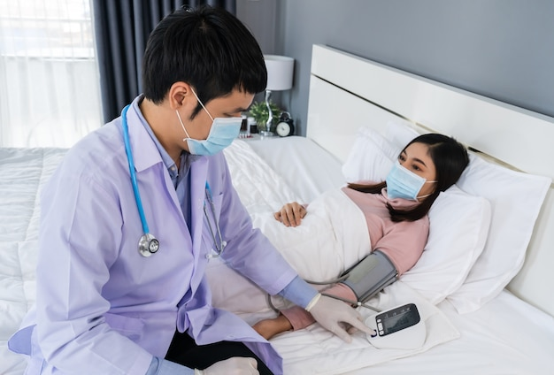 Docteur, vérification, patient, hôpital, salle