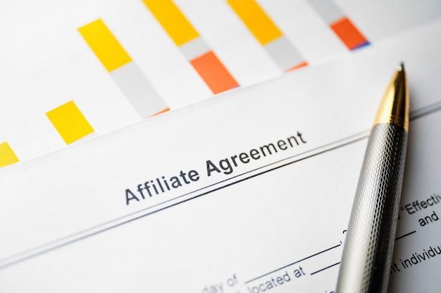 Documenter l'accord d'affiliation avec pen