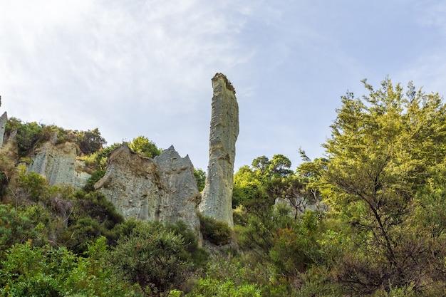 Doigt de roche. liffs. île du nord, nouvelle-zélande