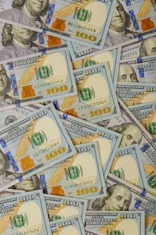 Dollar américain en arrière-plan