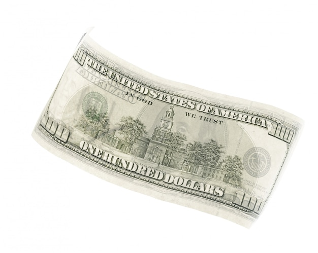 Dollar isolé sur blanc
