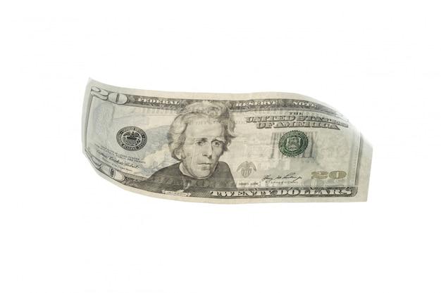 Dollar usd américain isolé