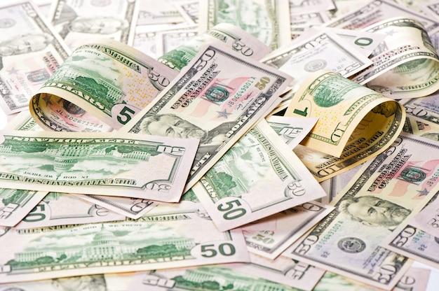 Dollars américains. fond d'argent. concept d'investissement