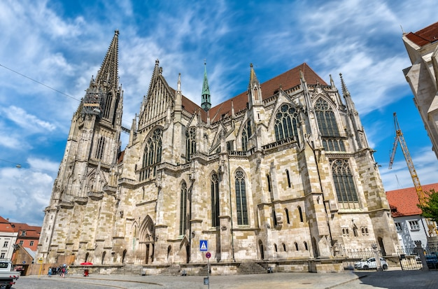 Dom saint peter, la cathédrale de ratisbonne en bavière, allemagne