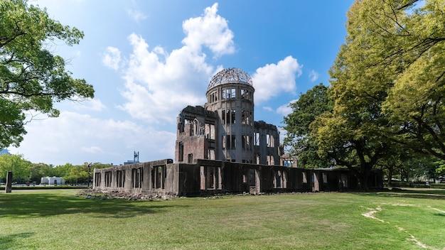 Dôme de la bombe atomique dôme de genbaku site du patrimoine mondial de l'unesco à hiroshima au japon