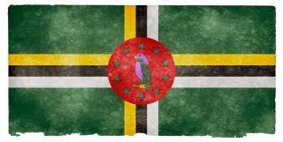 Dominica drapeau grunge antique
