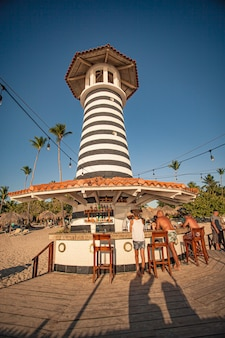 Dominicus, république dominicaine 6 février 2020 : vue du phare de dominicus près de bayhaibe
