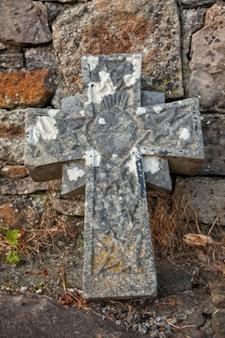 Donegal cimetière croix en pierre hdr