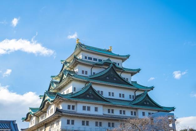 Donjon principal du château de nagoya à nagoya, japon