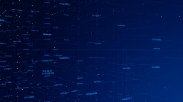 Données de réseau numérique et communication réseau concept abstrait.