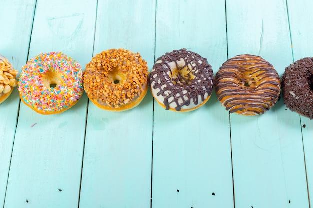 Donuts sur bois