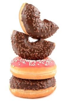 Donuts sur fond blanc