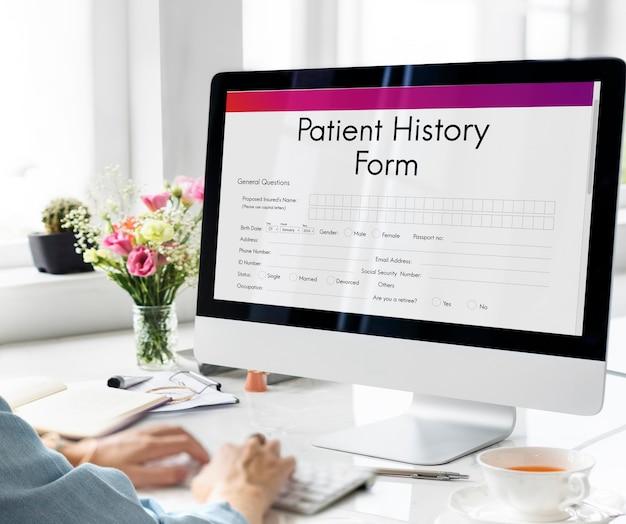 Dossier d'analyse des informations du patient concept médical