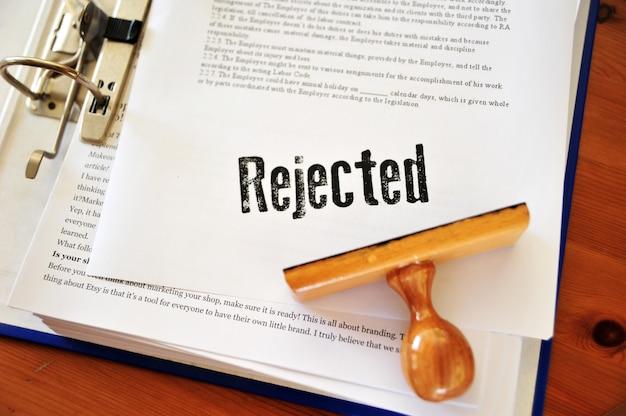Dossiers commerciaux rejetés