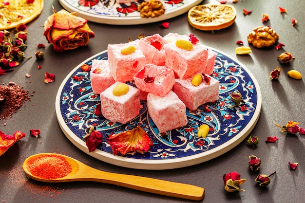 Douceurs orientales. délice turc traditionnel