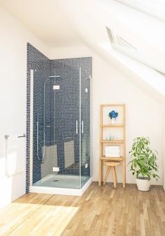 Douche sur salle de bain