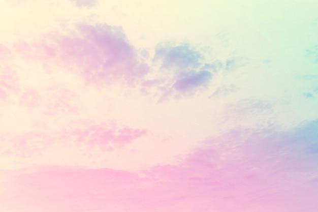 Doux nuageux est pastel dégradé
